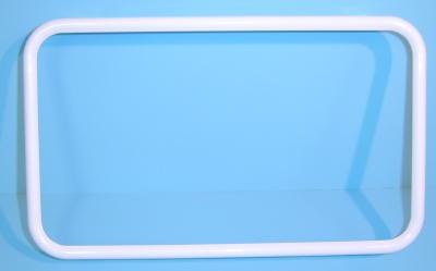 white frame small - White License Plate Frame